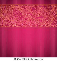 díszítő, rózsaszínű, kártya, befűz