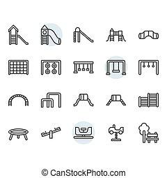 díszlet tervezés, jelkép, ikon, játszótér, áttekintés