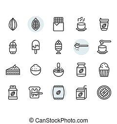 díszlet tervezés, jelkép, ikon, kakaó, áttekintés