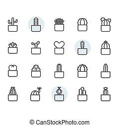 díszlet tervezés, jelkép, ikon, kaktusz, áttekintés
