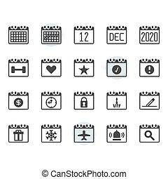 díszlet tervezés, jelkép, ikon, naptár, áttekintés