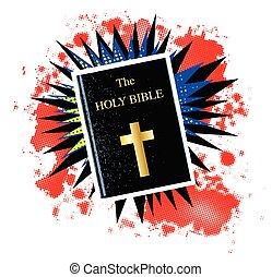 dörgés, könyv, szent bible