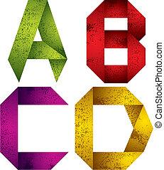 d., c-hang, b betű, irodalomtudomány, abc, origami