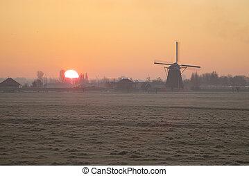 darál, napkelte, holland
