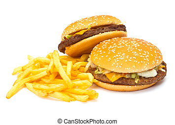 daróc, két, cheeseburgers