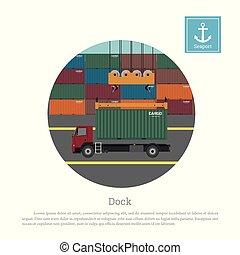 daru, container., csereüzlet, kirakodás