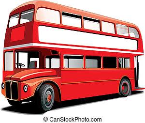 decker, megkettőz, autóbusz