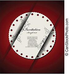 decoretive, kártya, meghívás
