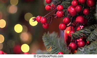 dekoráció, fa, karácsony