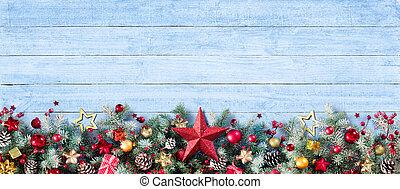 dekoráció, határ, karácsony