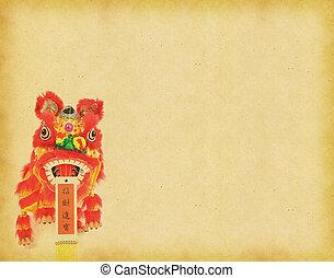 dekoráció, kínai új év