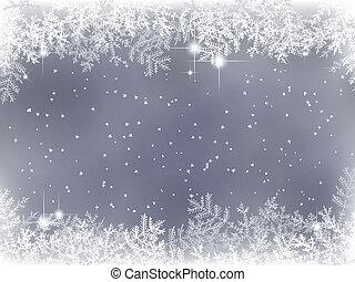 dekoráció, tél, háttér, karácsony