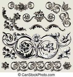 dekoráció, virágos, állhatatos, alapismeretek, klasszikus