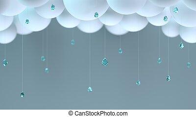 dekoratív, esőcseppek, elhomályosul