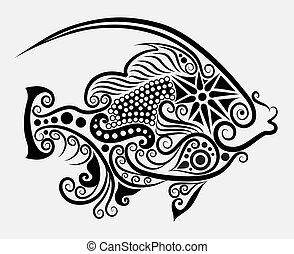 dekoratív, fish, 2