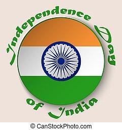 dekoratív, gördít, dicsőítések, tányér, szín, nemzeti, vagy, india, elszigetelt, csíkoz, háttér., lobogó, indiai, köztársaság, nap, fehér, ashoka, szabadság