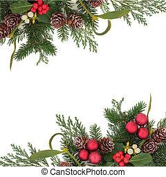 dekoratív határ, karácsony
