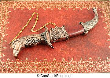 dekoratív, kés