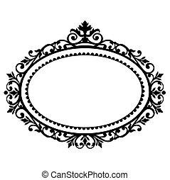 dekoratív, keret