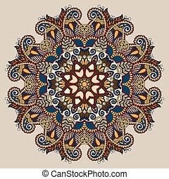 dekoratív, lelki, virág, lótusz, jelkép, indiai, karika