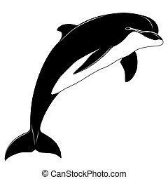delfin, tetovál