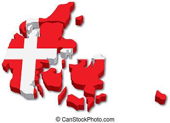 denmark lobogó, 3, térkép