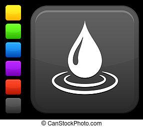 derékszögben, gombol, csepp, víz, internet icon