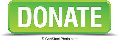 derékszögben, gombol, elszigetelt, gyakorlatias, zöld, adományoz, 3
