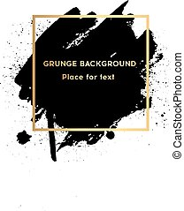 derékszögben, grunge, poszter, felett, struktúra, eredeti, festék, ütés, tervezés, ecset, vector., akril, keret