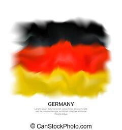 design., elvont, lobogó, tervezés, háttér, drawing., vektor, németország, grafikus, vízfestmény, fehér, transzparens, elszigetelt, ünneplés, német, háttér., hazafias, template.