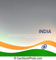 design., helyzet lobogó, flyer., fedő, kártya, hullámzás, nemzeti, háromszínű, indiai, elvont, india., tervezés, háttér, ünnep, vektor, poster., kreatív, hazafias