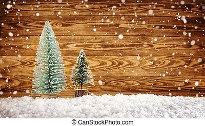 deszkák, fából való, dekoráció, karácsony, öreg
