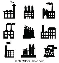 detektívek, gyárak, ipari, erő, épületek