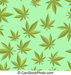 detektívek, ornament., pattern., seamless, marihuána, ganja, kender, háttér, altatószer, texture.