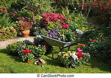 detektívek, palántázás, kert, új, előkészítő