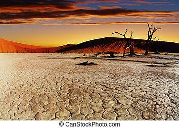 dezertál, namib, namíbia, sossusvlei