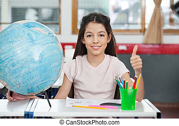 diáklány, gesztus, remek, íróasztal