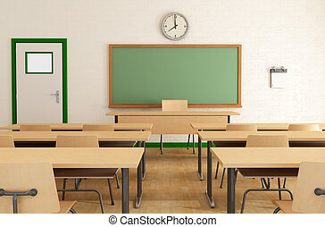 diákok, kívül, osztály