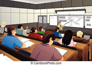 diákok, osztályterem