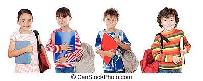 diákok, sok, gyerekek, jelent, izbogis