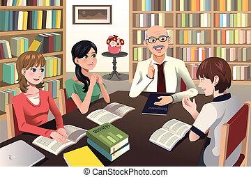 diákok, vita, birtoklás, -eik, főiskolai tanár