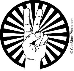 diadal, béke, kezezés cégtábla