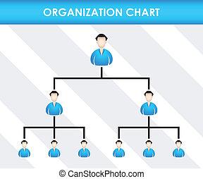 diagram, szervezet, sablon