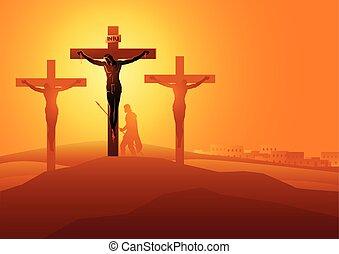dies, jézus, kereszt