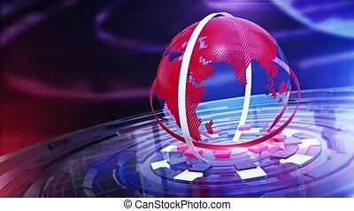 digitális, térkép háttér, világ, hír