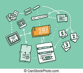 digital feljelentés, adatok, algorithm, összejövetel, keres