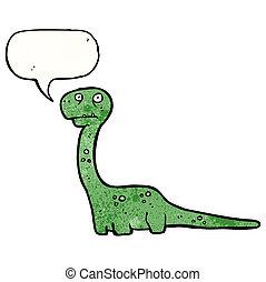 dinoszaurusz, barátságos, karikatúra