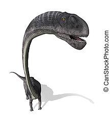 dinoszaurusz, omeisaurus, felül