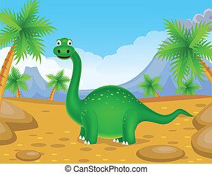 dinoszaurusz, zöld