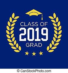 diplomás, osztály, 2019, csillaggal díszít, gratulálok, rojt, nyomdászat